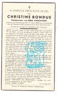DP Christine Bondue ° Vlamertinge Ieper 1899 † 1943 X Remi Knockaert - Imágenes Religiosas