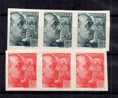 Espagne Timbres Franco En Deux Bandes De Trois Timbres Non Dentelés Neufs ** MNH. TB. A Saisir! - 1931-Aujourd'hui: II. République - ....Juan Carlos I