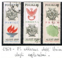 POLONIA (POLAND) - SG 1908.1910 - 1969  BOY SCOUTS: ALERT   (COMPLET SET OF 3)      - USED° - RIF. CP - 1944-.... Repubblica