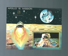 NE - Umm Al-Qiwain - 1 - Bloc Apollo 15   Poste Aérienne 1972 - Umm Al-Qiwain