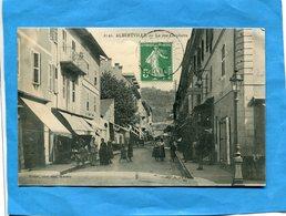 ALBERTVILLE-Rue Gambetta- Magasins Et Cafés -animée-a Voyagé En1911 édition Maurel - Albertville