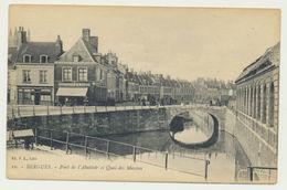 Bergues - Pont De L'abattoir Et Quai Des Maçons -Commerce DEQUEKER-DERVYN CHARBONS (1924) - Bergues