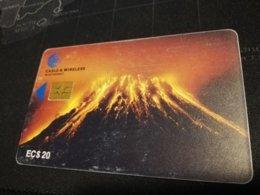 MONTSERRAT  $20,-  CHIPCARD  VULCANO  Gem 6   Fine Used Card  ** 522 ** - Montserrat