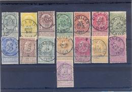 Nrs. 53/67 Gestempeld 140 Côte - 1893-1900 Schmaler Bart