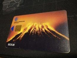 MONTSERRAT  $20,-  CHIPCARD  VULCANO  Gem 5   Fine Used Card  ** 523 ** - Montserrat