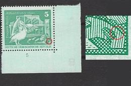 DDR 1842 II Postfrisch ** Typ II Aufbau Grossformat Eckrand (5461A) - Nuevos