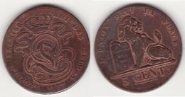 LOT N° 015   BELGIQUE LEOPOLD  Ier  PIECE DE 5 CENTIMES GRAND MODULE  ANNEE 1837 - 1831-1865: Leopold I