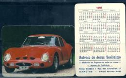 1991 Pocket Poche Calendar Calandrier Calendario Portugal Carros Cars Ferrari - Small : 1991-00
