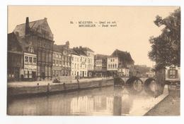 Malines Quai Au Sel Zout Werf Oude Postkaat Mechelen Carte Postale Ancienne - Malines