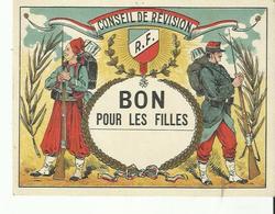 Conseil  De Revision Bon Pour Les Filles Tres Bon Etat - Dokumente