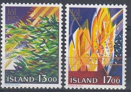 +Iceland 1987. Christmas. Michel 678-79. MNH(**) - 1944-... Republique