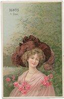 L100F312 - Portrait De Femme Dessiné - SYS N°16875 - 4 Dess - Women
