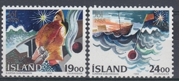 +Iceland 1988. Christmas. Michel 695-96. MNH(**) - 1944-... Republique