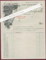 180320C - FACTURE ALCOOL ABSINTHINE Elixir Anisette 31 TOULOUSE A DEGEILH Distillateur Absinthe Apéritif - Invoices