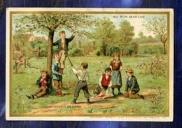 Chromo Au BON MARCHE Bm152 MINOT CAMPAGNE CUEILLETTE CERISES Cherry Picking 1889 - Au Bon Marché