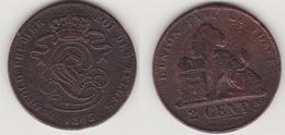 LOT 001  LEOPOLD Ier   2 CENTIMES CUIVRE 1863 - 1831-1865: Leopold I