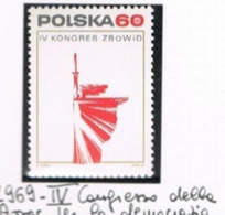 POLONIA (POLAND) - SG 1929 - 1969  FIGHTERS FOR FREEDOM CONGRESS      -  MINT** - RIF. CP - 1944-.... Repubblica