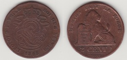 LOT 003  LEOPOLD Ier   2 CENTIMES CUIVRE 1865 - 1831-1865: Leopold I