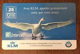 KLM OIE CARTE TÉLÉPHONIQUE A CODE INTERCALL PHONECARD CARD PAS TELECARTE - Cadeaux Promotionnels