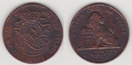 LOT 006  LEOPOLD Ier   2 CENTIMES CUIVRE 1863 - 1831-1865: Leopold I