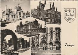 BOURGES  -  5 VUES SOUVENIR Et BLASON  -   Editeur  C.A.P..de Paris . N°1971 - Bourges