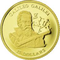 Monnaie, Liberia, Galileo Galilei, 25 Dollars, 2001, FDC, Or - Liberia