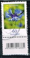 Bund 2019,Michel# 3468 R O Blumen:Kornblumemit EAN- Code Und Nummer (verwischt) - [7] République Fédérale