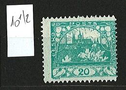 1919/1920 Czechoslovakia Mi 27 * MH Minister Perforation - Ungebraucht