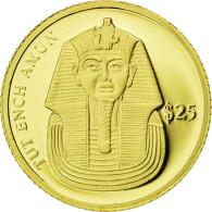 Monnaie, Liberia, Toutankhamon, 25 Dollars, 2000, American Mint, FDC, Or, KM:627 - Liberia
