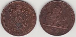 LOT 008 LEOPOLD Ier   2 CENTIMES CUIVRE_1862 - 1831-1865: Leopold I