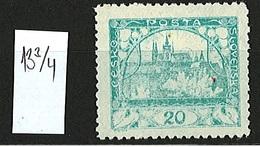 1919/1920 Czechoslovakia Mi 27 * MH - 13 3/4 - Ungebraucht