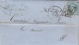 Yvert 29 Lettre Entête Labeyrie PAU Basses Pyrénées 28/11/1868 GC 2795 à Lanne Par Aramits - 1849-1876: Classic Period
