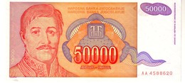 Yugoslavia P.142  50000 Dinars 1994 Unc - Yougoslavie