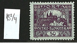 1919 Czechoslovakia Mi 19 * MH Minister Perforation 13 3/4 - Ungebraucht