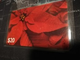 CARIBBEAN ISLANDS $20,- CHIPCARD POINTSETTA Small Serial Nr , Fine  Used ** 529** - Altri – America