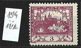 1918 Czechoslovakia Mi 1 * MH Minister Perforation 13 3/4 X 13 1/2 - Ungebraucht