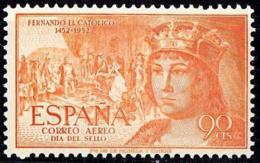 España. Spain. 1952. Dia Del Sello. Stamp Day. Fernando El Catolico. Correo Aereo. Airmail - 1931-Hoy: 2ª República - ... Juan Carlos I