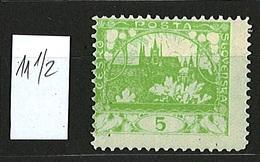 1918 Czechoslovakia Mi 2 * MH 11 1/2 - Ungebraucht