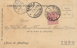 Barile. 1917. Annullo Guller BARILE (POTENZA), Su Cartolina Postale - 1900-44 Vittorio Emanuele III