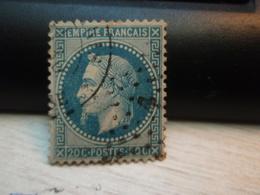 Timbre Empire Français 20 C. Napoléon III  Lauré. N° 29 B  Oblitéré. - 1863-1870 Napoleon III With Laurels
