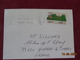 3 Lettres D'Andorre Espagnol Avec Timbres Adhésifs En Pesetas Et Euros - Spaans-Andorra