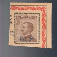 B.L.P. 40 Cent Su Piccolo Frammento Ma Non Timbrato Cod.FRA.746 - Versichert