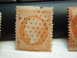 Timbre Empire Français Napoléon III, Lauré. Y & T N° 31, 40 C. Orange.  Oblitéré. - 1862 Napoléon III