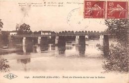 ¤¤  -   AUXONNE    -  Pont Du Chemin De Fer Sur La Saône       -  ¤¤ - Auxonne