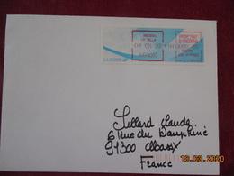 Douzes Lettres De La Principauté D'Andorre Avec Vignettes De Distributeurs Différents En Francs Ou En Euros. - Affrancature Meccaniche Rosse (EMA)