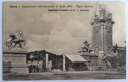 V 72656 Roma - Esposizione Internazionale Di Belle Arti - Vigna Cartoni - Ingresso D'onore - Expositions