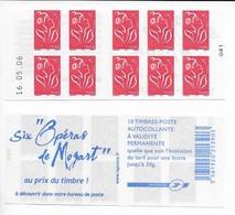 Carnet 3744 C11 Marianne De Lamouche Daté Livraison Gratuite - 2004-08 Marianne (Lamouche)