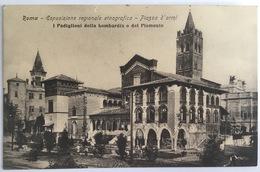 V 72660 Roma - Mostra Etnografica - Piazza D'Armi - I Padiglioni Della Lombardia E Del Piemonte - Expositions