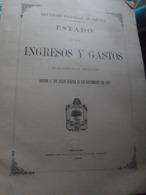 Ingresos Y Gastos Diputacion Provincial Vizcaya 1893 - Otros