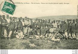 WW 2 Cpa MILITARIA. Tirs De Combat Au Plateau De La Fayolle à Saint-Anthême Et Carte Patriotique édition Farges - Manoeuvres